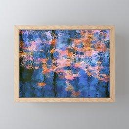Fallen leaves in water I Framed Mini Art Print