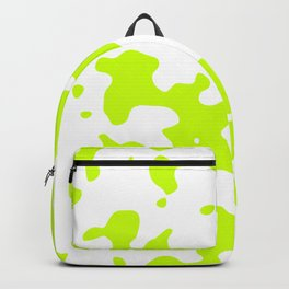 Large Spots - White and Fluorescent Yellow Backpack