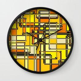 Vintage Yellow Print Wall Clock