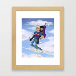 Flying Around Jason and Nico Framed Art Print