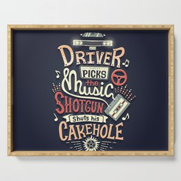 Driver picks the music Serving Tray