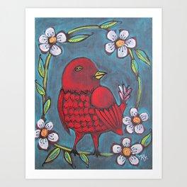 Redbird Art Print