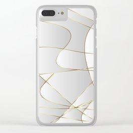 Gold lines Clear iPhone Case