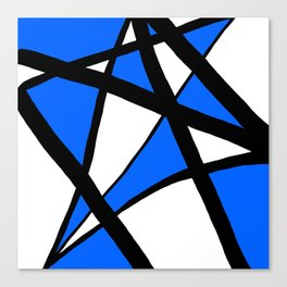 China Blue Geometric Triangle Abstract Canvas Print