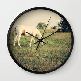 It's not a unicorn! It's a white horse! Wall Clock