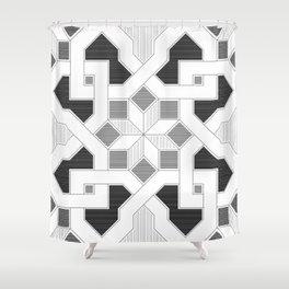 Oriental Pattern - Geometric Design - lines Shower Curtain