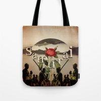 samurai Tote Bags featuring samurai by Rosa Picnic