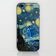 Flying Tardis doctor who starry night iPhone 4 4s 5 5c 6, pillow case, mugs and tshirt iPhone & iPod Skin