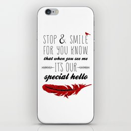 Cardinal Bird - Lost Loved One Visiting - Special Message - Angels visiting iPhone Skin