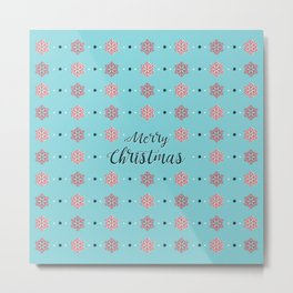 Merry Christmas BLUE Metal Print
