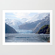 Glacier View Art Print