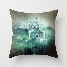 The dark fairytale - Bavarian Fairytale Castle Throw Pillow