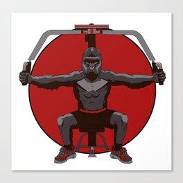 Animal Workouts: Gorilla Canvas Print