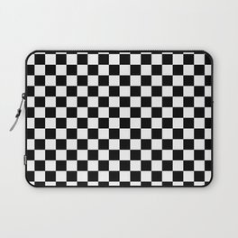Checker (Black & White Pattern) Laptop Sleeve