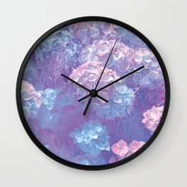 Raining Flowers Wall Clock