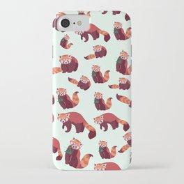 Red Panda Pattern iPhone Case