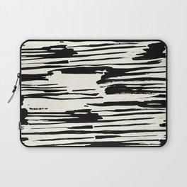 Rough Brush on Ivory Laptop Sleeve