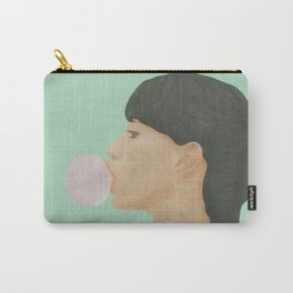 Blowing Bubble Gum Carry-All Pouch