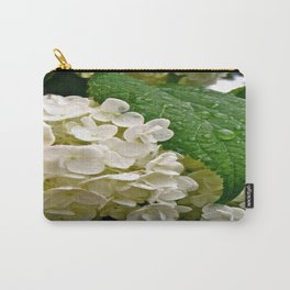Wet Hydrangea Carry-All Pouch