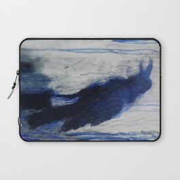 Contemporary Blue Raven Weather Abstract Painting  Laptop Sleeve