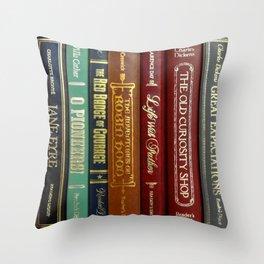 Books 3 Throw Pillow