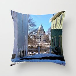 Rhode Island State House - Providence, Rhode Island by Jeanpaul Ferro Throw Pillow