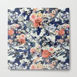 Flowery camo Metal Print