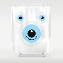 Funny polar bear face Shower Curtain