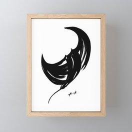 Ray - Fusion of pen strokes Framed Mini Art Print