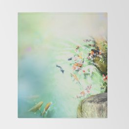 Fish watercolor Throw Blanket