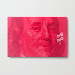 Benjamin (pink) Metal Print