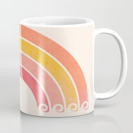 Whimsical Vintage Rainbow Waves Coffee Mug