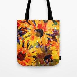 Golden Sunflower Garden Tote Bag