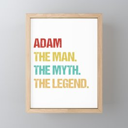 Mens Adam Name Gift design Framed Mini Art Print