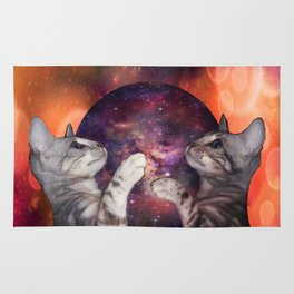 The Silver Marble Oracle Kitty Cats of the Kittyverse Rug