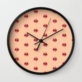 SEXY LIPS ((melon)) Wall Clock