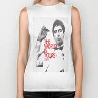 scarface Biker Tanks featuring SCARFACE by I Love Decor