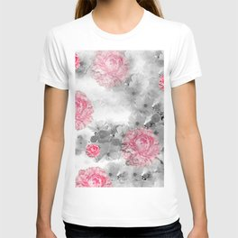 ROSES PINK WITH CHERRY BLOSSOMS T-shirt