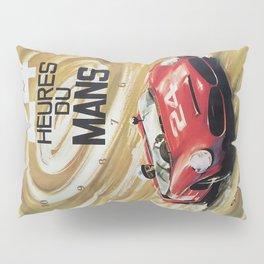 1963 Le Mans poster, Race poster, car poster, garage poster Pillow Sham