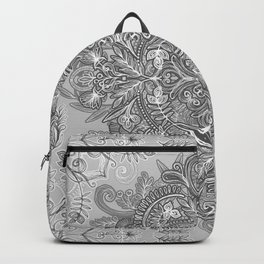 Vintage Winter Monochrome Doodle Backpack