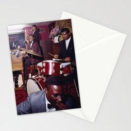 Pitts Motor Inn 1950's Jazz Combo, Washington, DC Retro Jazz Stationery Cards