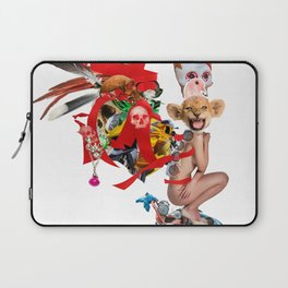 Skull Queen Ribbon Lion Witch Doctor Laptop Sleeve