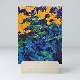 Horse Riders in the Autumn Sea Mini Art Print