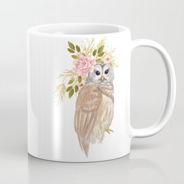 Owl with flower crown Coffee Mug