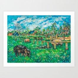 Dutch pigs Art Print