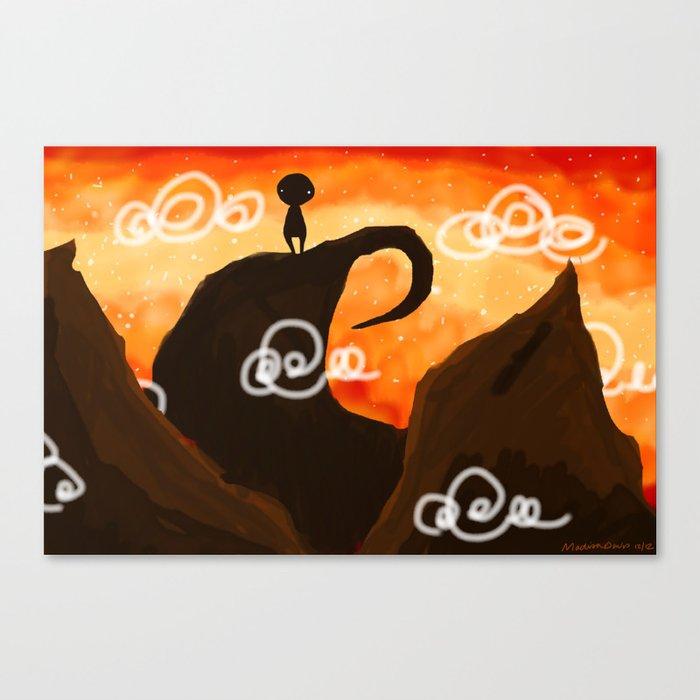 Sunset Dude Canvas Print