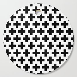 Swiss Cross B&W Cutting Board