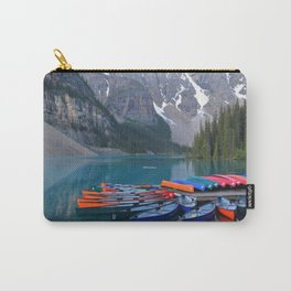 Colorful Canoes at Moraine Lake Carry-All Pouch
