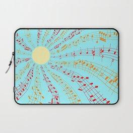 Music Brightens the World Laptop Sleeve