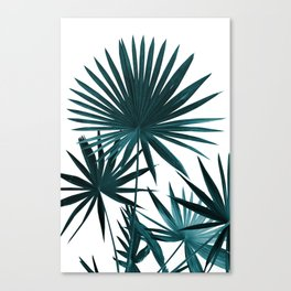 Fan Palm Leaves Jungle #1 #tropical #decor #art #society6 Canvas Print
